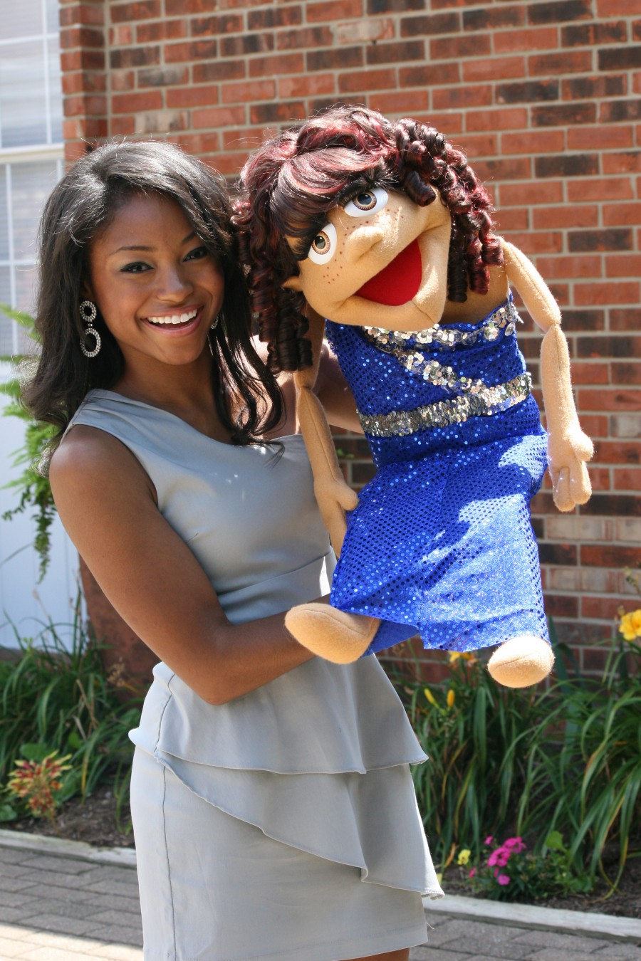 Megan with puppet