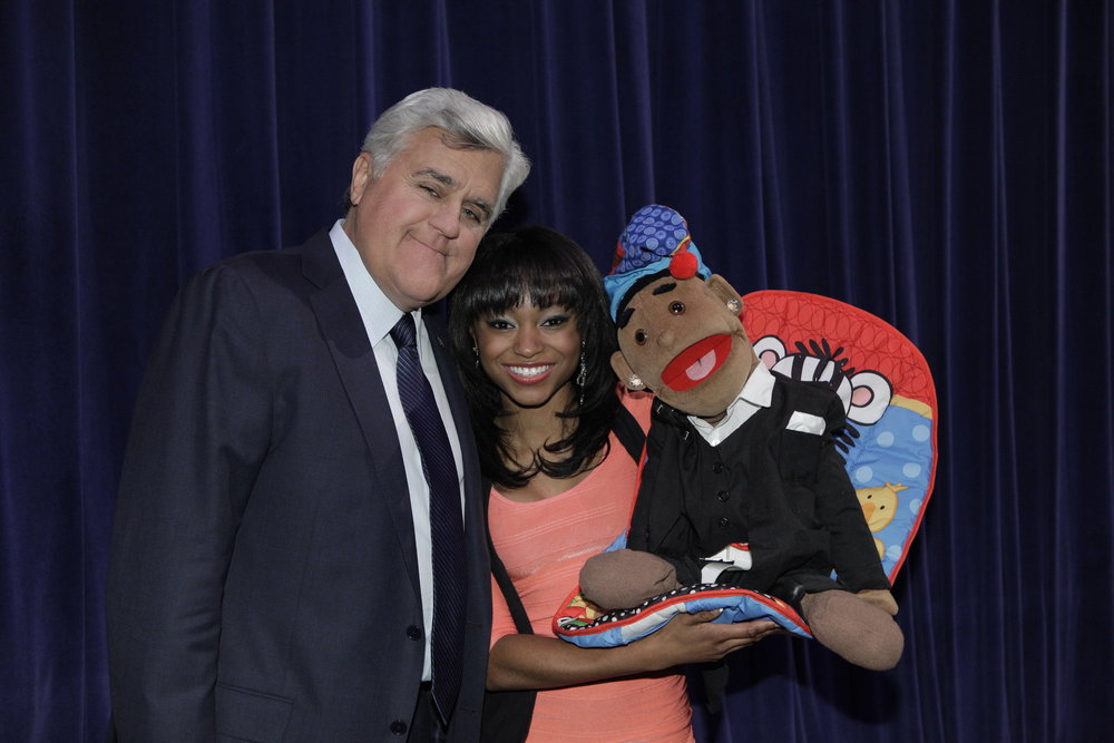Megan with Jay Leno